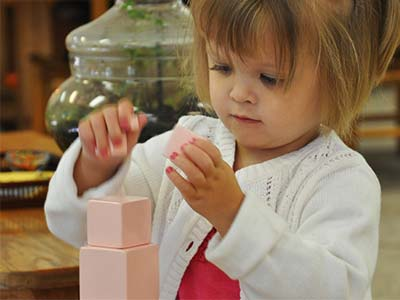 Northwoods Montessori Learning Tools, Pink Tower