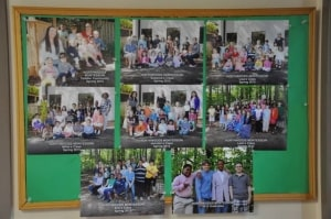 . . .showing people around, always starting at the bulletin board with all of last year's class pictures proudly displayed. . .