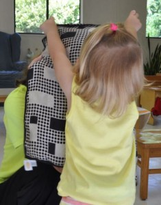 Peepie! is still a favorite game in Toddler Community at Northwoods.  First you cover the face. . .