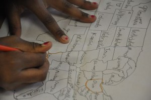 We loved working with some of our old favorites, like paper maps. . .