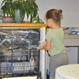 Loading the dishwasher can be a challenge---especially when it's almost full.
