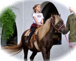 . . .riding horses. . .