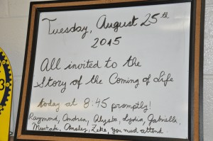 Coming of Life Sign