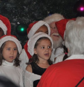 """An invitation from nearby Northlake Mall brought some of us out to kick off the season with a Santa parade.  It looks as if he enjoyed """"You better watch out."""""""