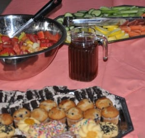 Each of us had helped prepare the special sandwiches and salad, the muffins and vegetable trays that were to constitute our feast.