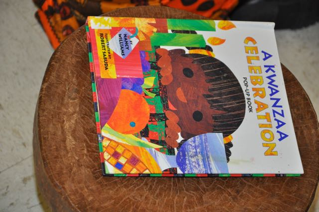 We had lots of good books about Kwanza to explain the days, the candles, the greetings.