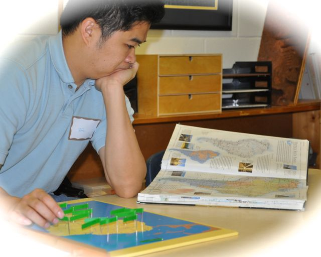 Just when you think there can be nothing as challenging as Puzzle Maps, you get the Pin Maps in Elementary.  You can label everything---countries, cities, rivers, oceans and even major features of the land, like deserts and mountains.  A good reference book is an absolute must.