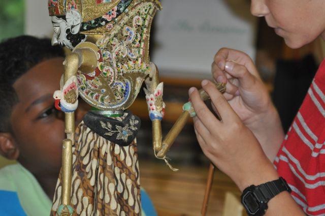 I learned that the Indonesian Shadow Puppet is held together with simple string.