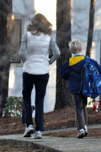 They walk us right in---even when it's pretty cold.