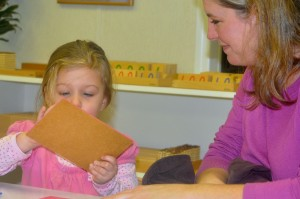 At the Parent/Child Open House, there is Peace in taking the time to follow the child.