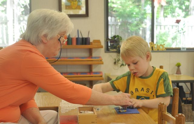 An individual lesson introduces a piece of material the child will use to memorize his addition facts.