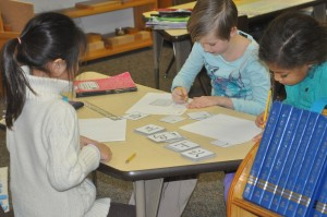 Peace is international and multilingual.  In this class, a child brought his Spanish lessons to his friends, so another child brought her Chinese and another has created French lessons for the group.