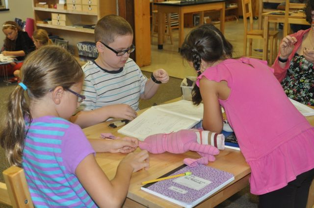 New friends work together to create something new.