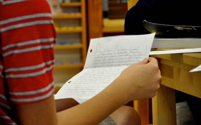 . . .read a letter from a penpal in Portland, Oregon. . .